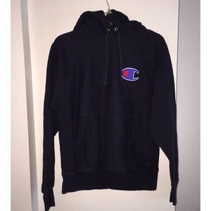 Champion Sweatshirt Reverse Weave, Navy Blue, Logo